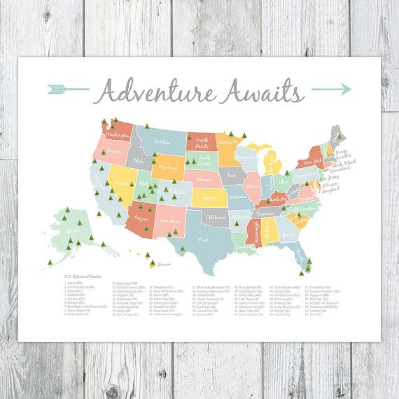 Free Map Of Us National Parks